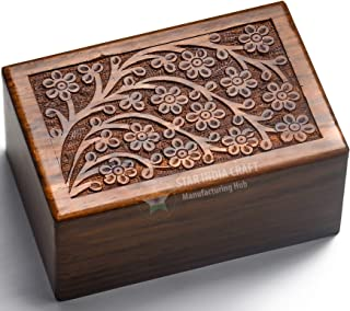 STAR INDIA CRAFT Handmade Tree of Life Urns for Human Ashes, Adult Large Cremation Urns, Funeral Urns Engraved, Burial Urns - 185 lbs