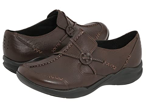 Wave Leather LeatherDark Clarks Brown Black Run 0TqqdwA