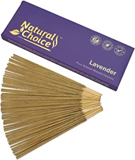 Natural Choice Incense Lavender Incense Sticks 100 Grams, Low Smoke Traditional Incense Sticks Made from Scratch, Never Dipped