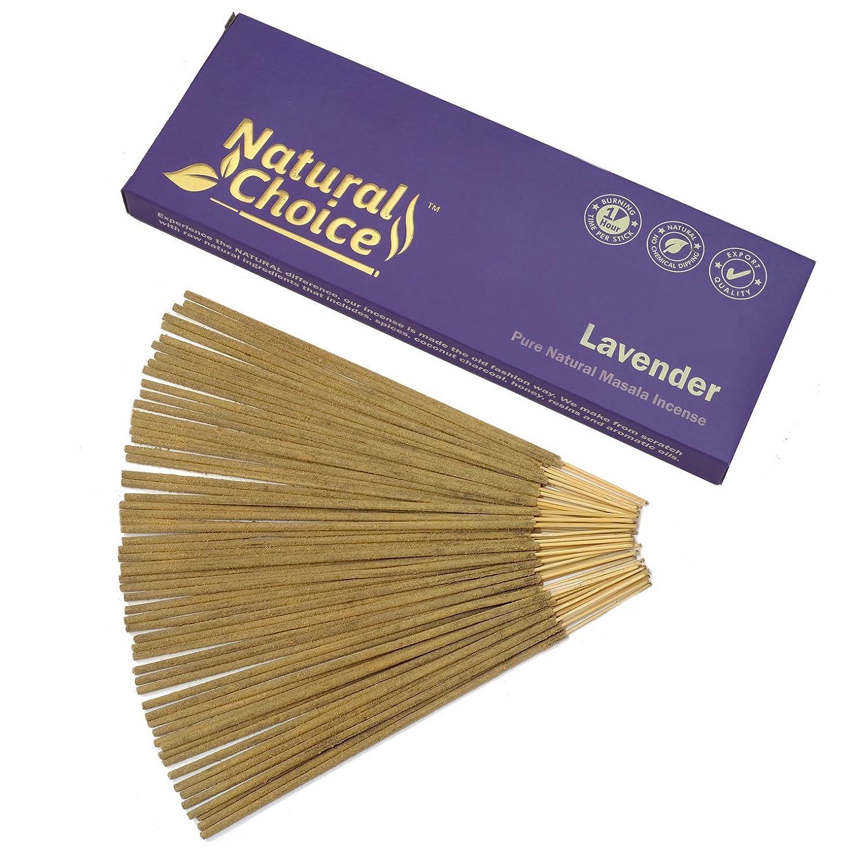バルブそれから出来事Natural Choice Incense Lavender Incense Sticks 100?gm?–?Made from Scratch?–?No Dipping