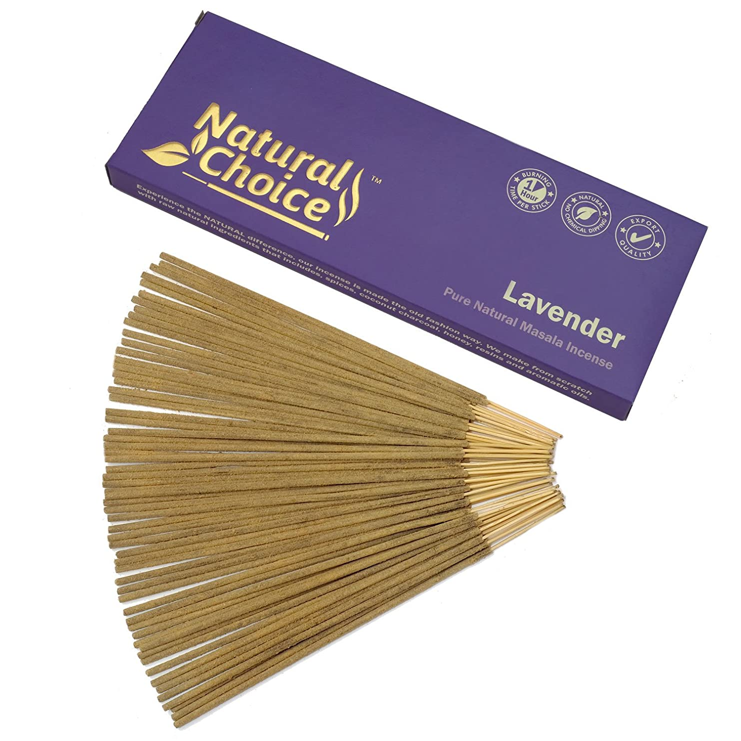 合法絞る司書Natural Choice Incense Lavender Incense Sticks 100?gm?–?Made from Scratch?–?No Dipping
