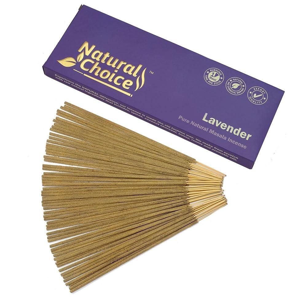 ほこりっぽい叫ぶドアNatural Choice Incense Lavender Incense Sticks 100?gm?–?Made from Scratch?–?No Dipping