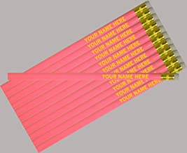 ezpencils - Personalized Pink Round Pencil - 12 pkg - ** FREE PERZONALIZATION **