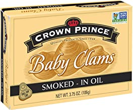 Crown Prince Smoked Baby Clams in Oil, 3.75 Ounce (Pack of 12)