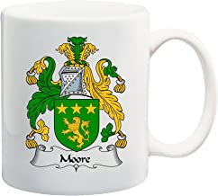 Moore Coat of Arms/Moore Family Crest 11 Oz Ceramic Coffee/Cocoa Mug by Carpe Diem Designs, Made in the U.S.A.