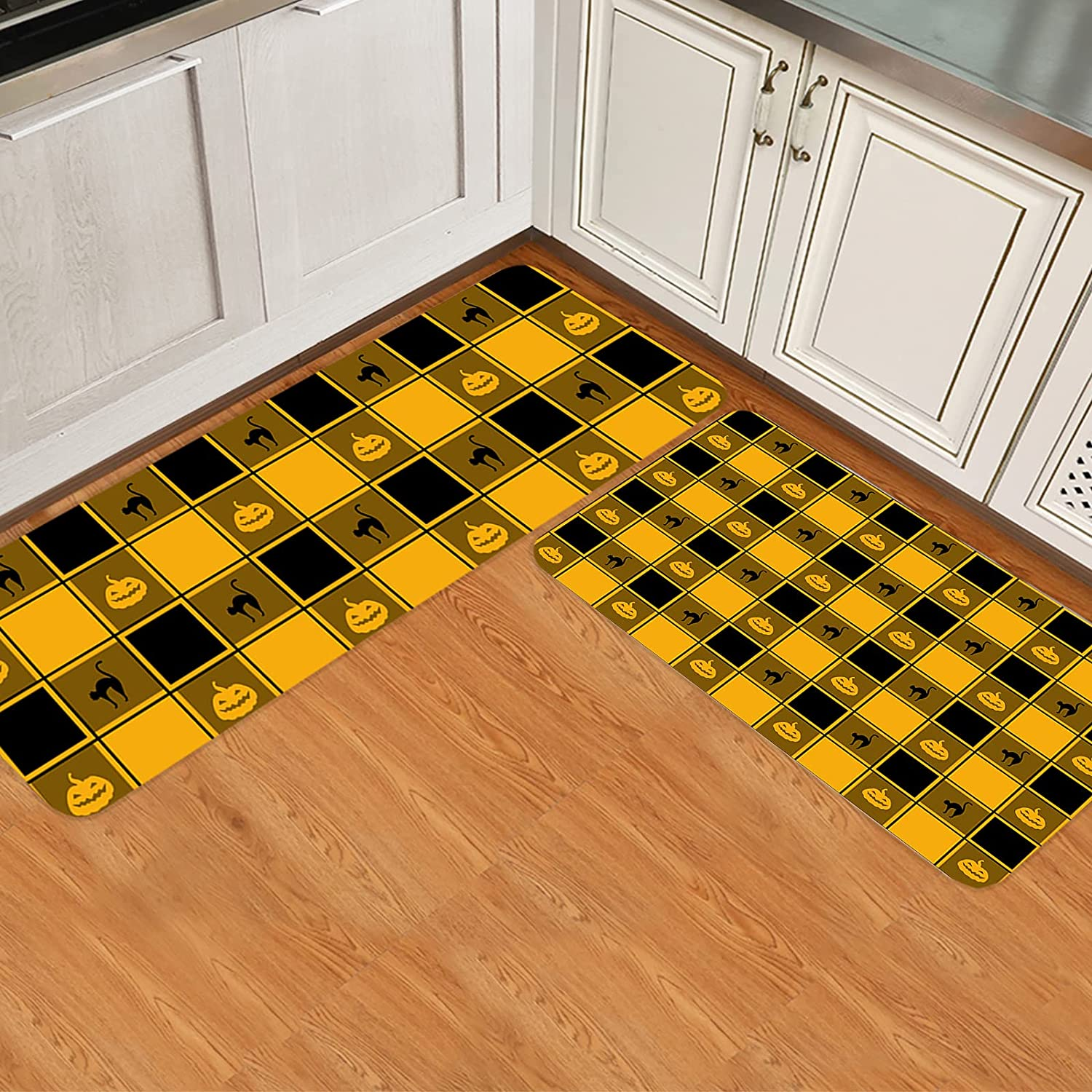 ARTSHOWING Limited Special Price Halloween Recommended 2 Pieces Set Kitchen Non Mats for Sl Floor