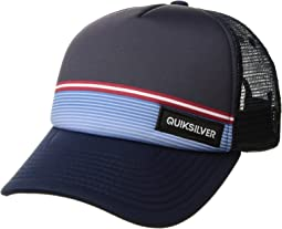 Quiksilver Kids Stripe Stare Trucker Hat (Big Kids)