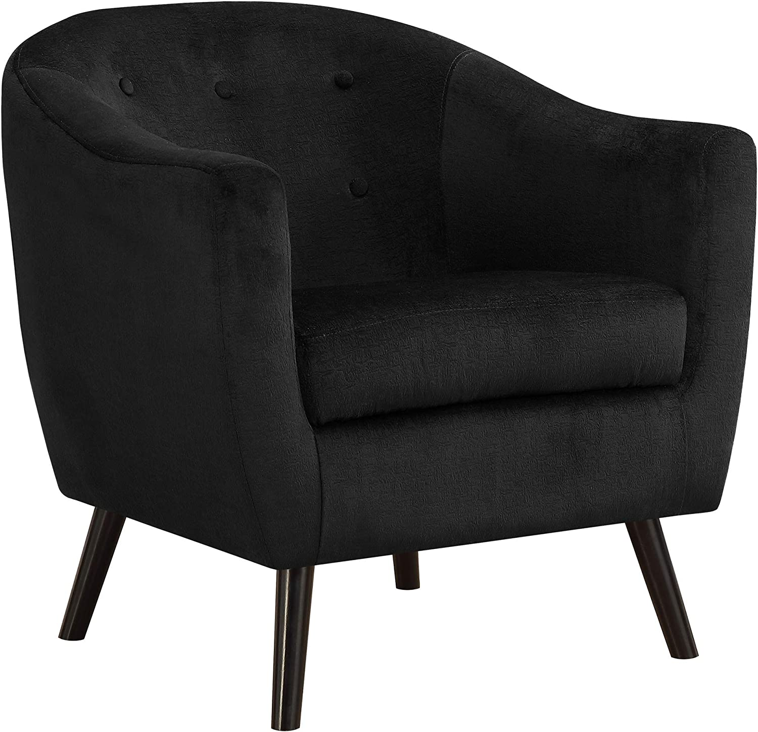 Monarch Specialties Accent Chair - Black Mosaic Velvet