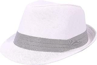 Lx10tqy Men Fedora Wide Brim Felt Hat Solid Color Elegant Cap Boater Summer Winter Beach Sunhat