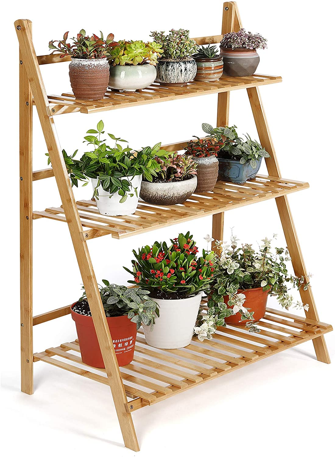 HYNAWIN Bamboo Plant Stand, 8 Tiers Plant Rack, Flower Display Rack,  Storage Shelf for Indoor Outdoor Home Patio Lawn Garden Balcony Organizer  Planter ...