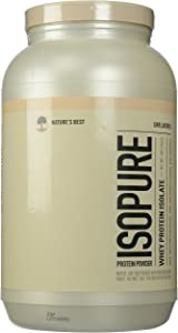 Isopure Whey Protein Isolate, Unflavored, 3 Pounds (Packaging May Vary)