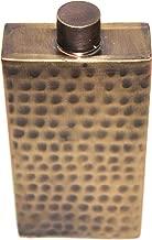 STREET CRAFT Antique Finish Hand Hammered Solid Brass Hip Flask 8 oz