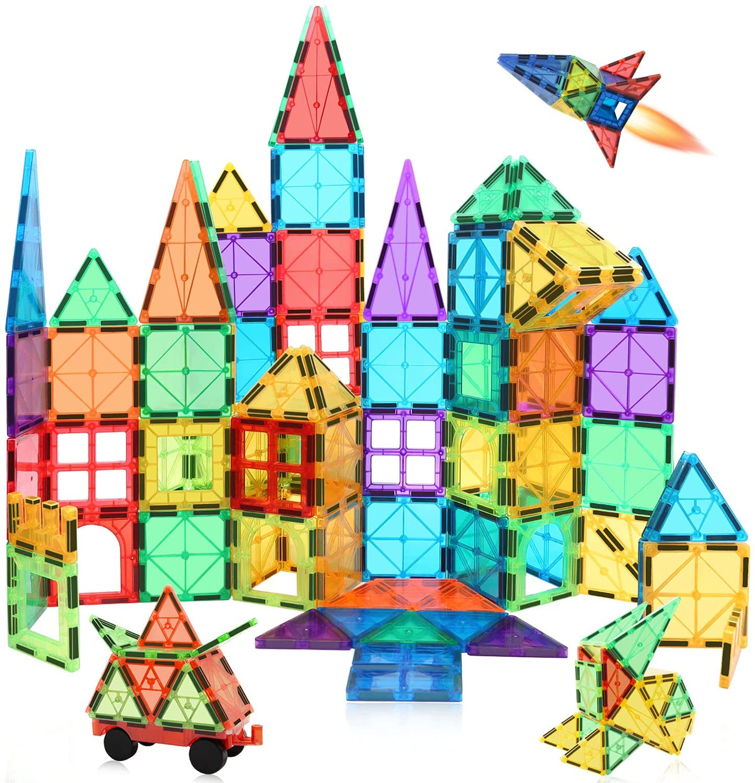 MagHub 85PCS Kids Magnet Toy Under blast sales Tiles Shape Bu Special sale item Magnetic 3D