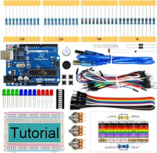 Freenove Basic Starter Kit with UNO R3 Board (Compatible with Arduino IDE), 96 Pages Detailed Tutorial, 151 Items, 19 Proj...