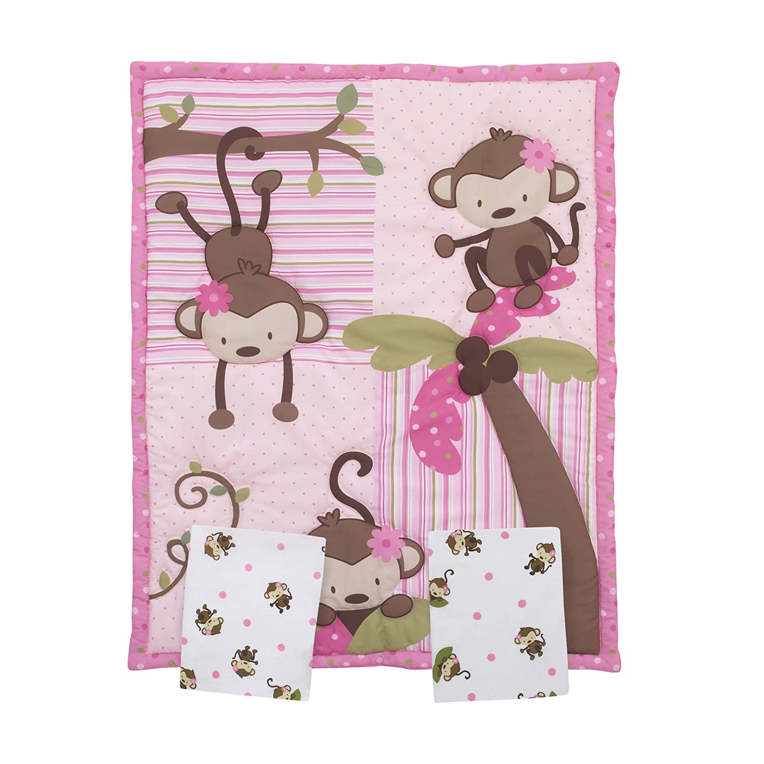 OFFicial store Little Bedding Courier shipping free shipping by NoJo Monkeys 3 Piece Mini Cr Crib Porta