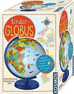 KOSMOS 673024 Kinder-Globus, ab 5 Jahren, mit Beleuchtung, Durchmesser 26 cm, Lernspielzeug für Kinder und Deko fürs Kinde...