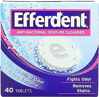 Efferdent Anti-Bacterial Denture Cleanser Tablets 40 ea (Pack of 3)
