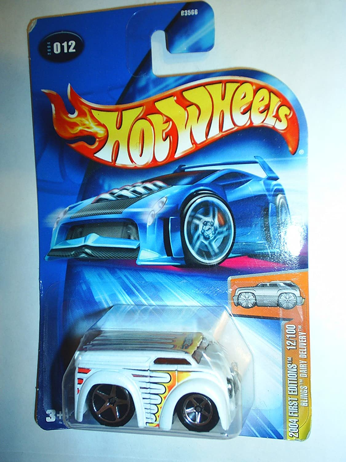 Mattel Hot Wheels 2004 First Editions 1 64 Scale White Bling Diary Delivery 12 100 Die Cast Car  012