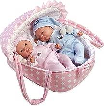 Ann Lauren Dolls 11 inch Twin Baby Doll in Carrier- Baby Dolls