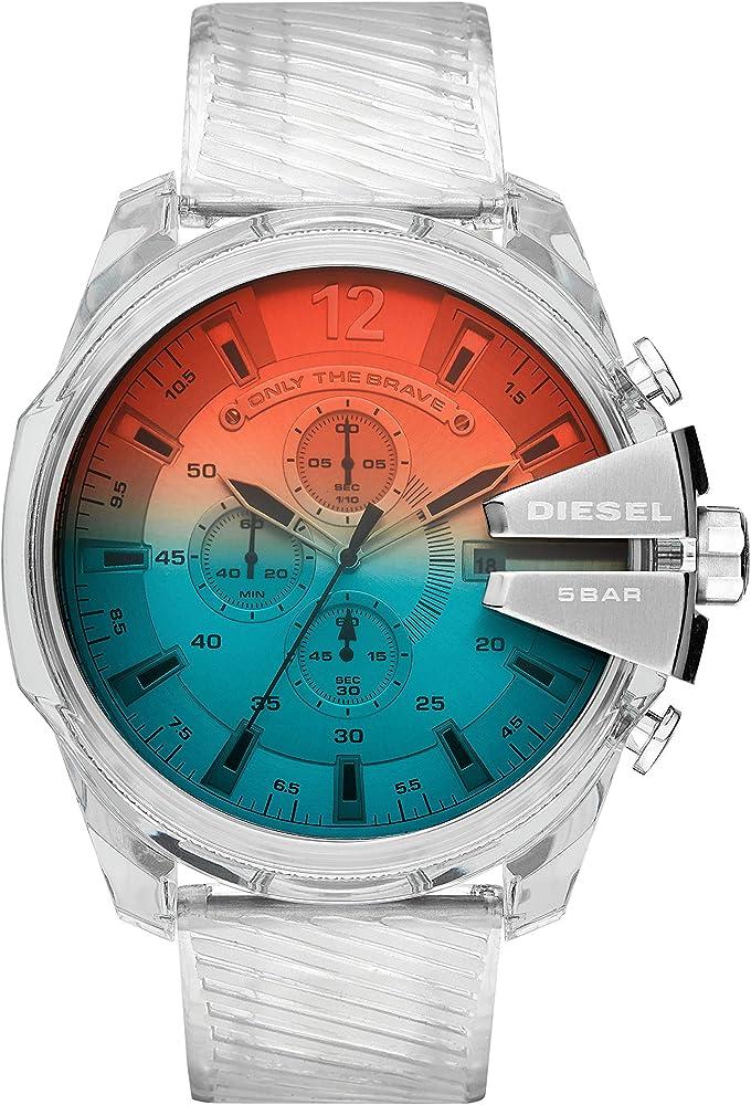Diesel orologio cronografo da uomo con cinturino in poliuretano e cassa in acciaio inossidabile DZ4515