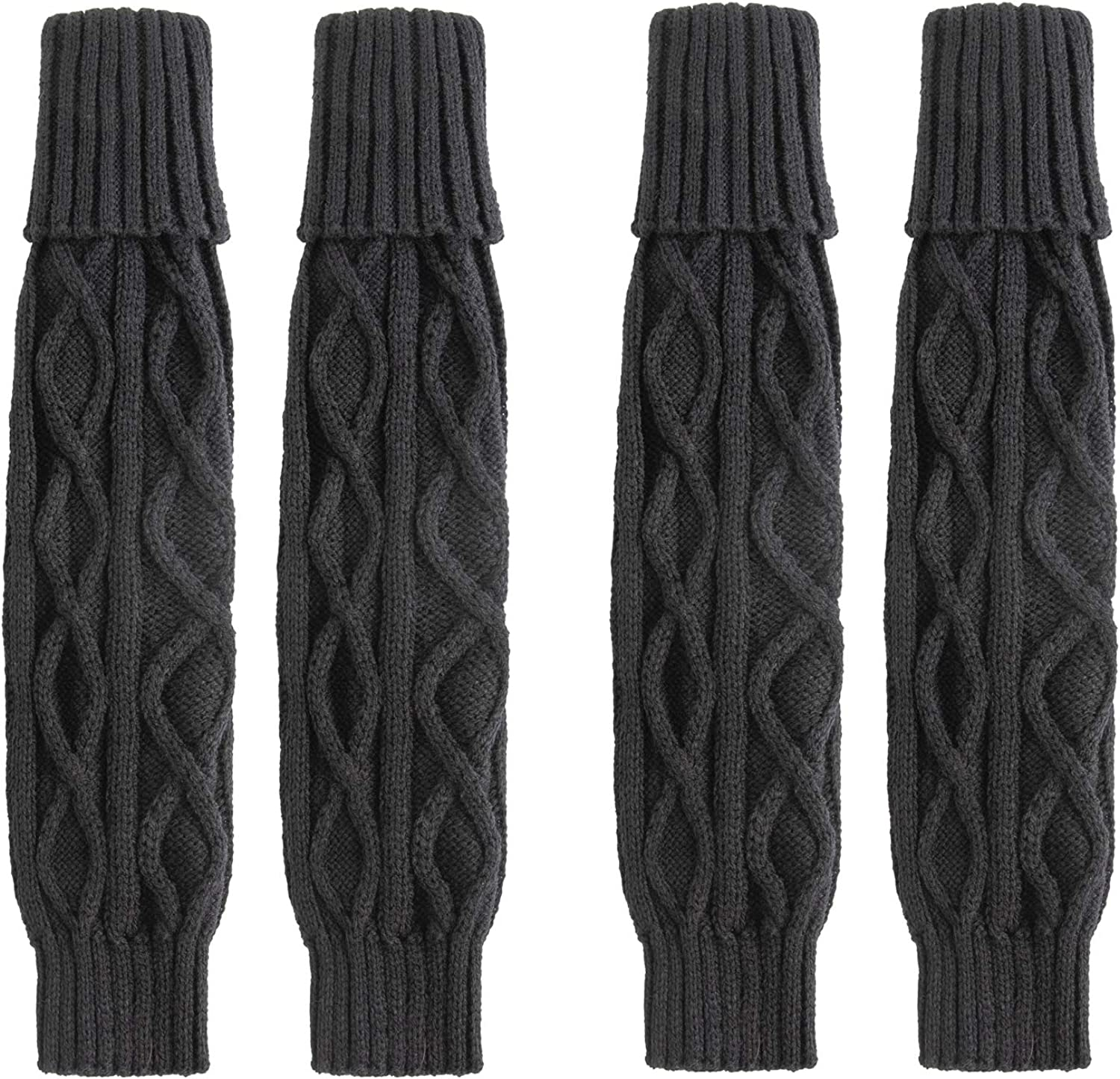 Leg Warmers For Women, 2 Pairs Cable-Knit Warm & Comfortable Acrylic Long Socks