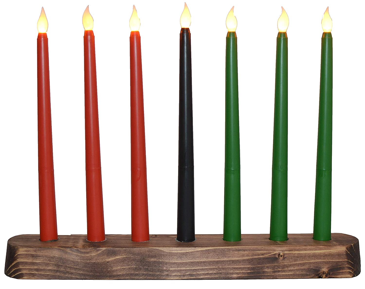 Kwanzaa Outlet ☆ Free Shipping Kinara - Flameless Max 44% OFF Battery Powered Candles Electric Ha