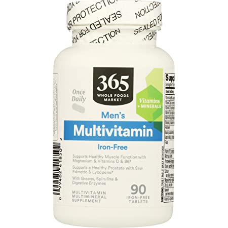 365 by Whole Foods Market, Supplements - Multivitamins, Men's - Iron Free (Tablets), 90 Count