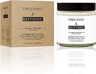 Organic & Botanic Natural Madagascan Coconut Shea Butter Hydrating Repairing Body Cream 100ml For All Skin Types. Premium ...
