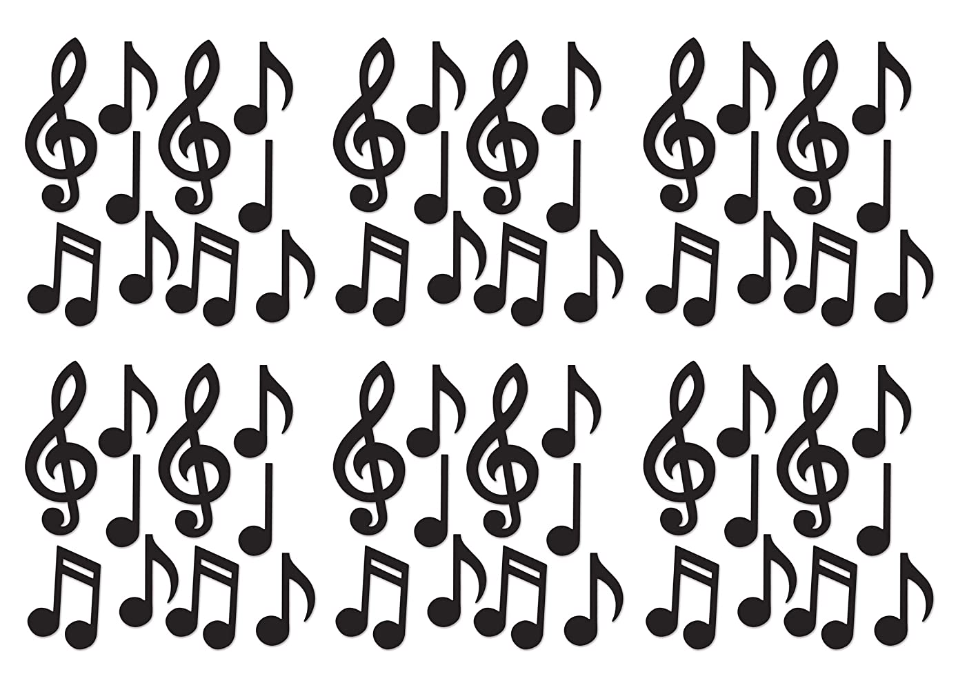 Beistle S54735-BKAZ6 Mini Musical Notes Silhouettes 60 Piece, 5.5