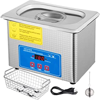 Mophorn 0.8L Professional Ultrasonic Cleaner 304 Stainless Steel Digital Lab Ultrasonic Cleaner with Heater Timer for Jewelry Watch Glasses Circuit Board Dentures Small Parts Dental Instrument