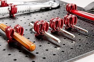 PARAT Basic 900008988 alet mandalı (delikli tahtalar için, 20 adet, renk kırmızı, alet tutucusu)