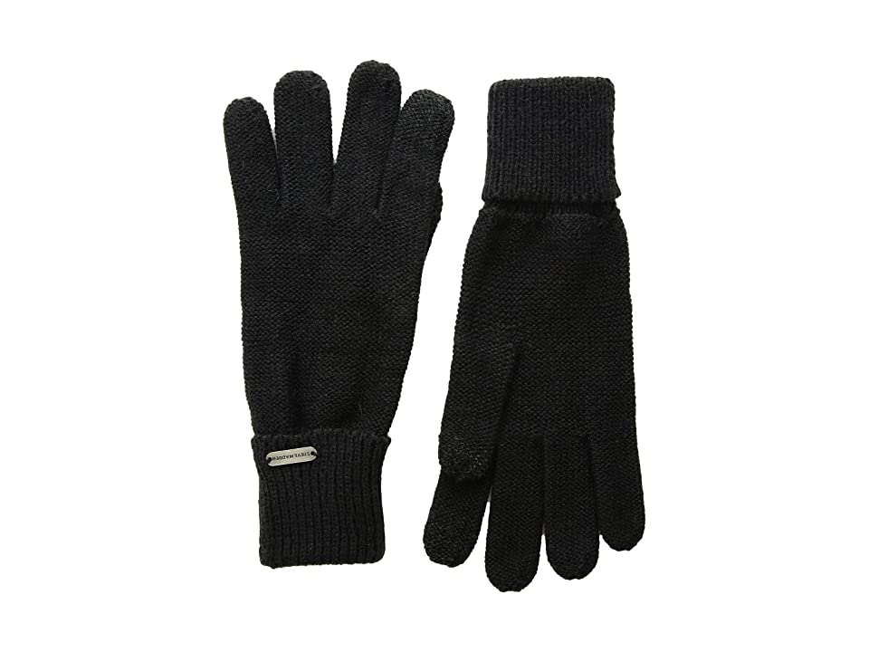 Steve Madden Solid Boyfriend iTouch Gloves (Black) Extreme Cold Weather Gloves