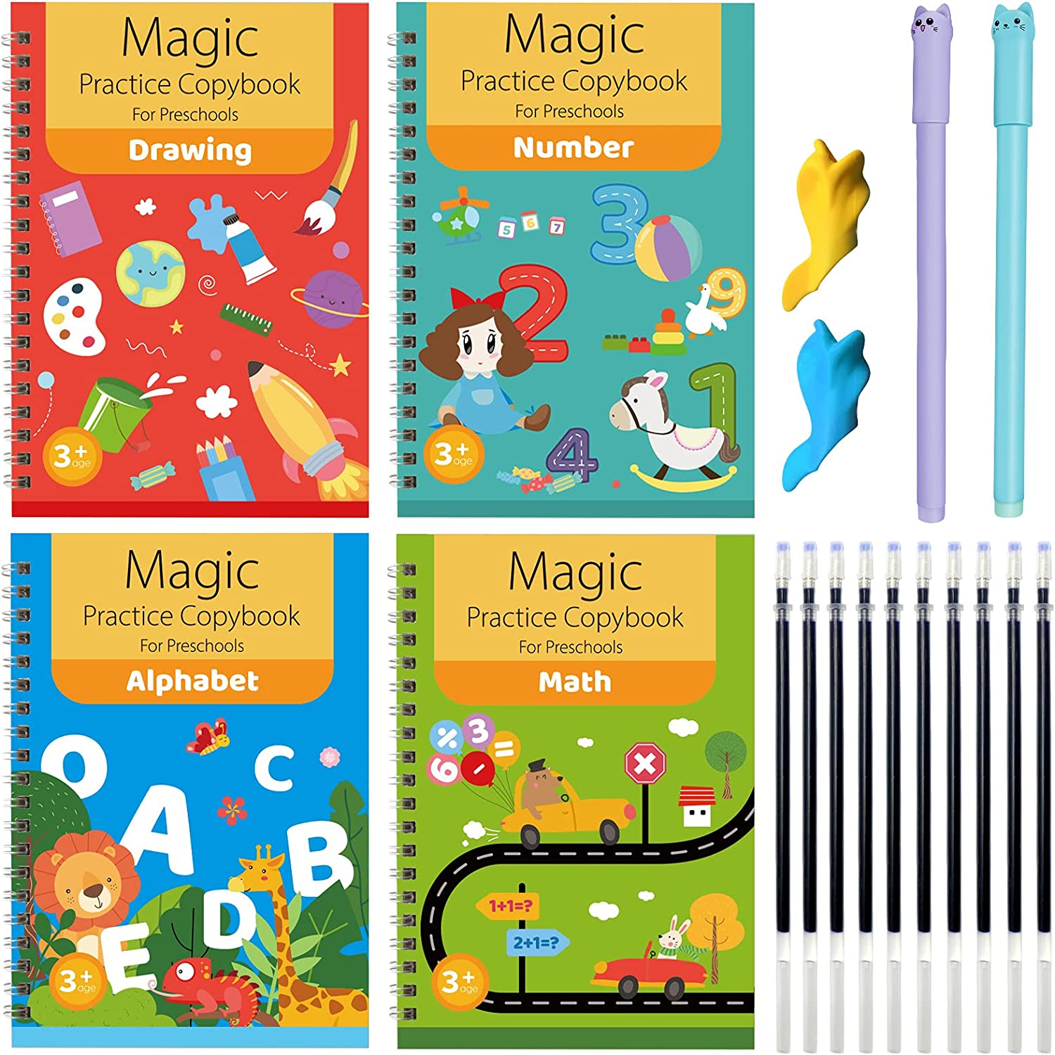 4 PCS Magic Ranking integrated 1st place Practice Copybook English Kids Magical 35% OFF Reusable for