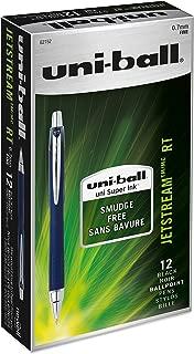 uni-ball Jetstream RT Ballpoint Pens, Fine Point (0.7mm), Black, 12 Count