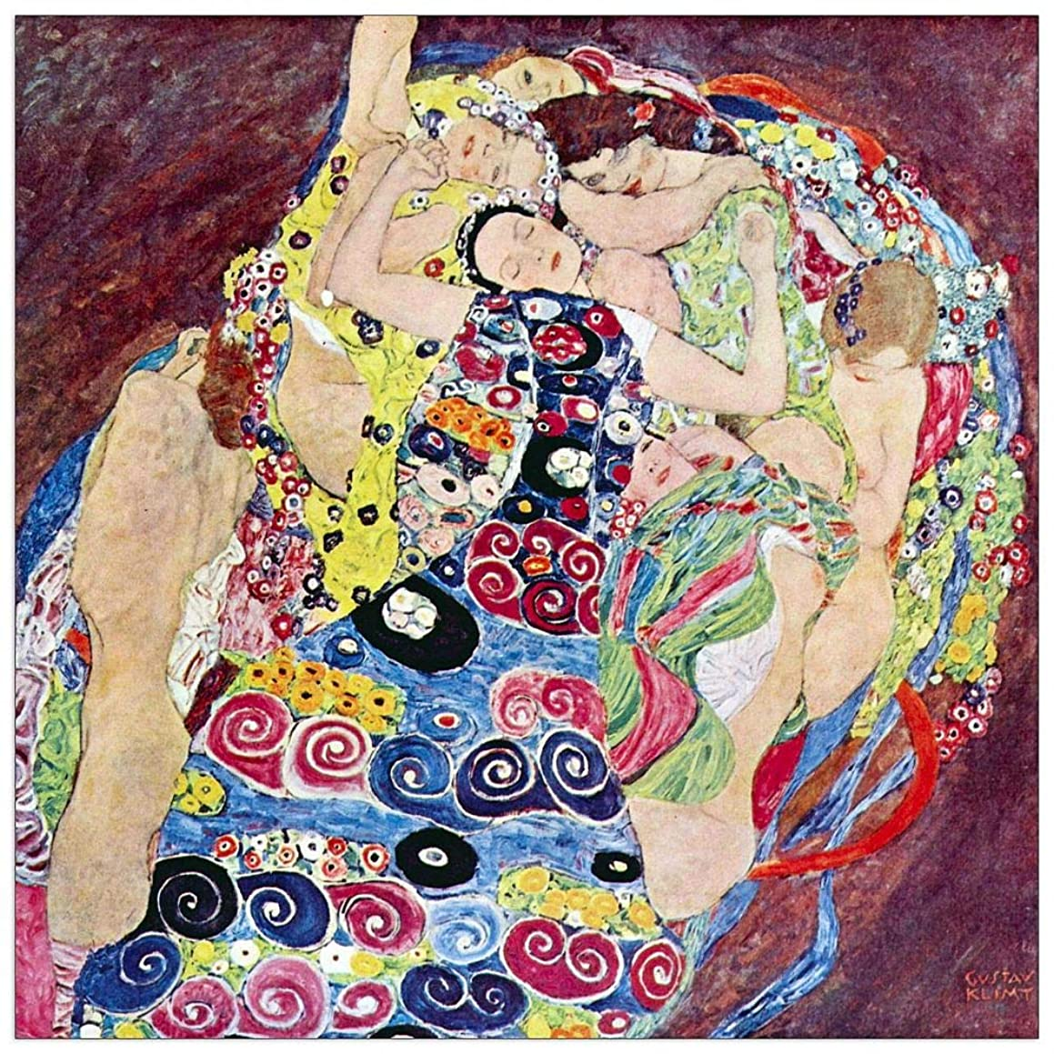 ArtPlaza TW90509 Klimt Gustav - Virgins Decorative Panel 23.5x23.5 Inch Multicolored