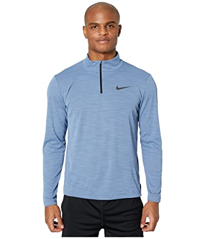 Nike Superset Top Long Sleeve 1/4 Zip (Ocean Fog/Black) Men