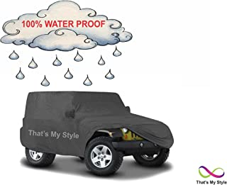 100% WATER PROOF,High Performance Superior Quality IMPORTED Fabric & Fully Customized Dark Grey Car Body Cover For RENAULT DUSTER