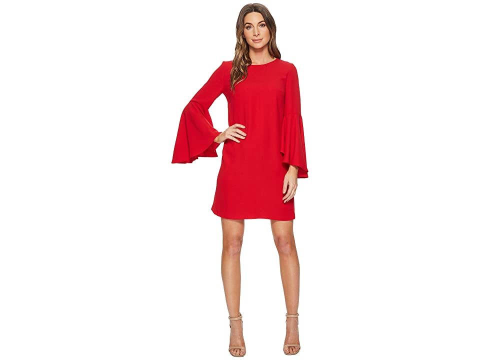 CATHERINE Catherine Malandrino Claudette Scoop Neck Oversized Bell Sleeve Dress (Lipstick Red) Women