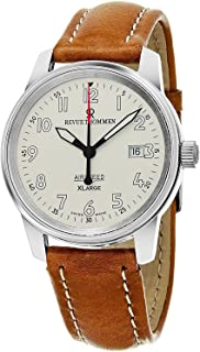 Revue Thommen 'Air Speed XL' Silver Dial Brown Leather Strap Swiss Mechanical Watch 16052.2532