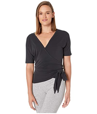New Balance Balance Two-Way Wrap Top (Black) Women