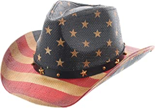 74d3e5cf Milani Kids Vintage Style Stars and Stripes American Flag Patriotic Cowboy  Hat