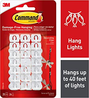 Command Decorating Clips, White, 20-Clips (17026-ES)