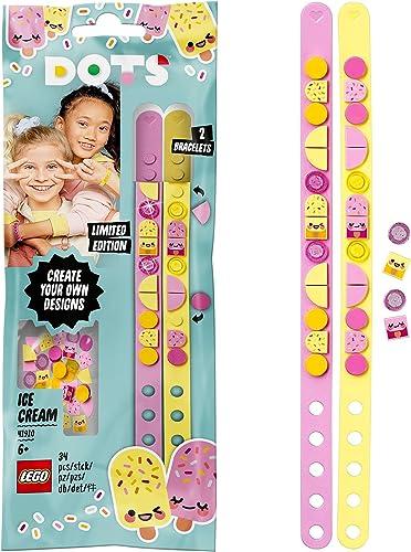 LEGO Dots 41910 LesBraceletsCrèmeglacée, Kit Création Bijoux DIY, Loisirs Créatifs et Bricolage pour Enfant de 6 A...