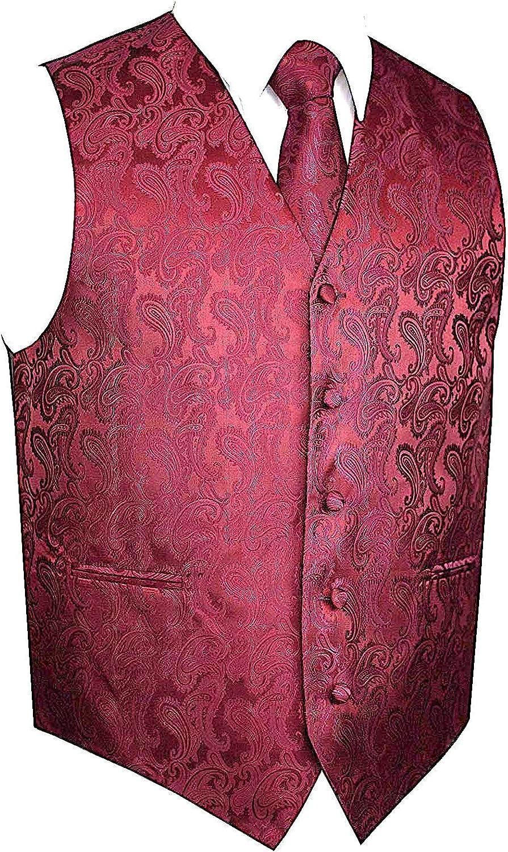 Our shop OFFers the best service Men's 3pc Paisley Vest NeckTie Pocket Suit or Square For Tux Long Beach Mall Set