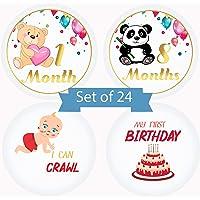 Serene Selection Animals Designs Baby Milestone Monthly 24 Premium Stickers