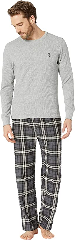 Flannel Pants & Thermal Crew Gift Set