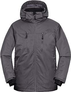svacuam Men's Snow Waterproof Ski Jacket Windproof Winter Fleece Parka Coat with Detachable Hood