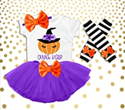 Girl's Halloween Outfit Girl's Halloween Costume Halloween Pumpkin Shirt Halloween Pumpkin Patch Outfit Toddler Girls Pumpkin Witch