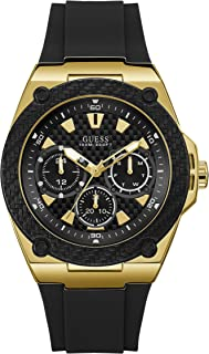 GUESS Mens Quartz Watch, Analog Display and Silicone Strap - W1049G5