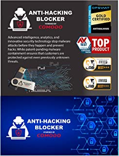 Anti-Hacking Blocker Software By COMODO - Premium Internet Security Anti Virus Software and Firewall Protection - Protects Up to 3 PC's - 1 Year Pre-Paid Subscription